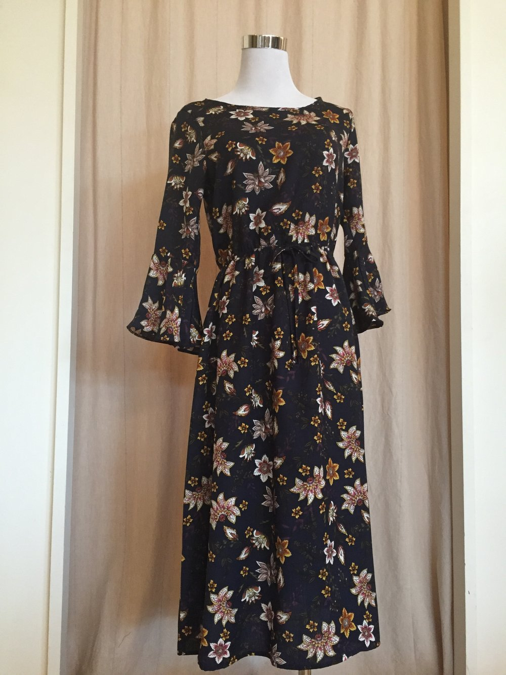 Floral Gilli Dress (Navy and Burgundy $48)