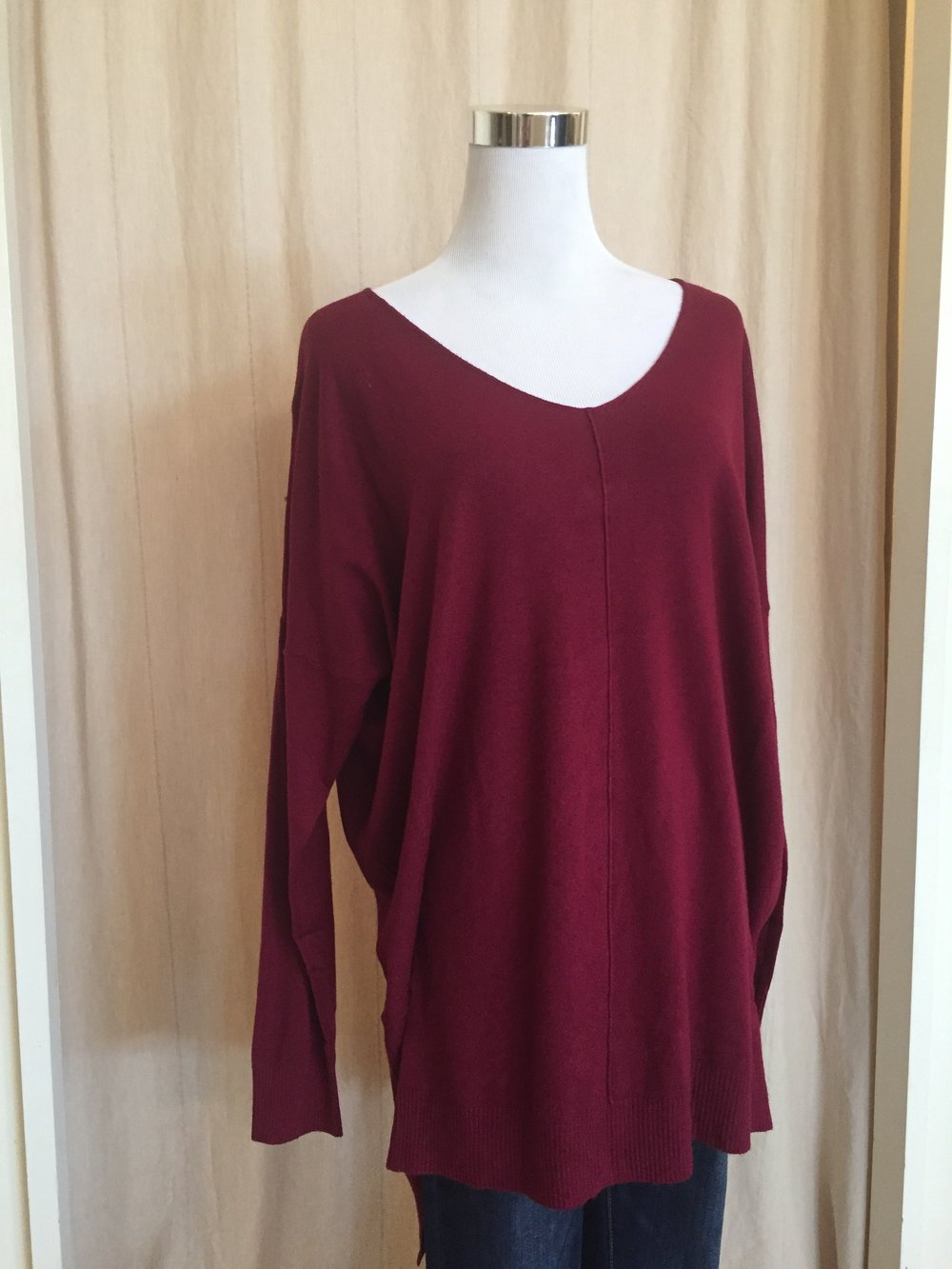 Dreamers V Neck (Burgundy, Mustard, and Olive Green $42)