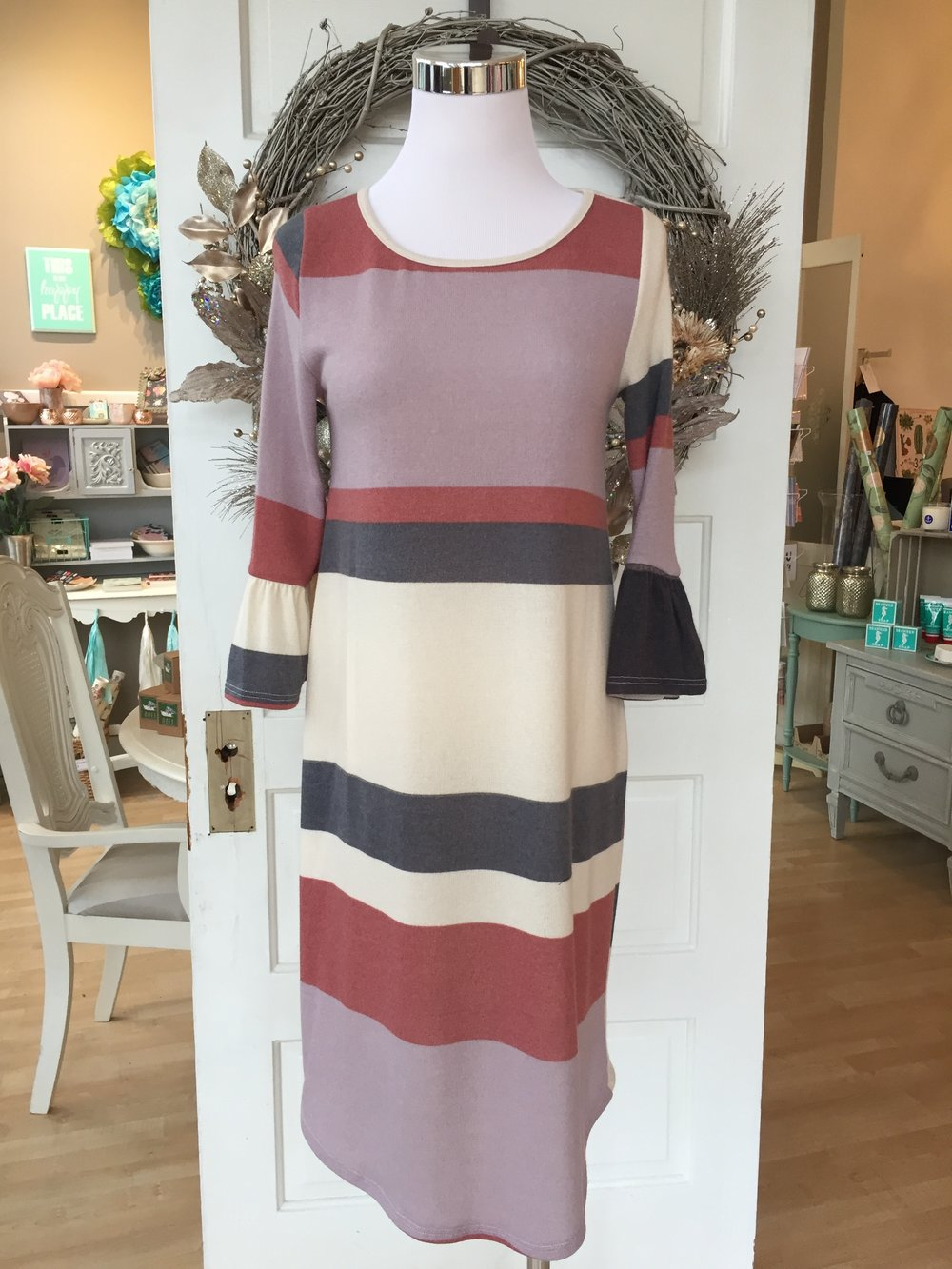 Les Amis Striped Dress $38