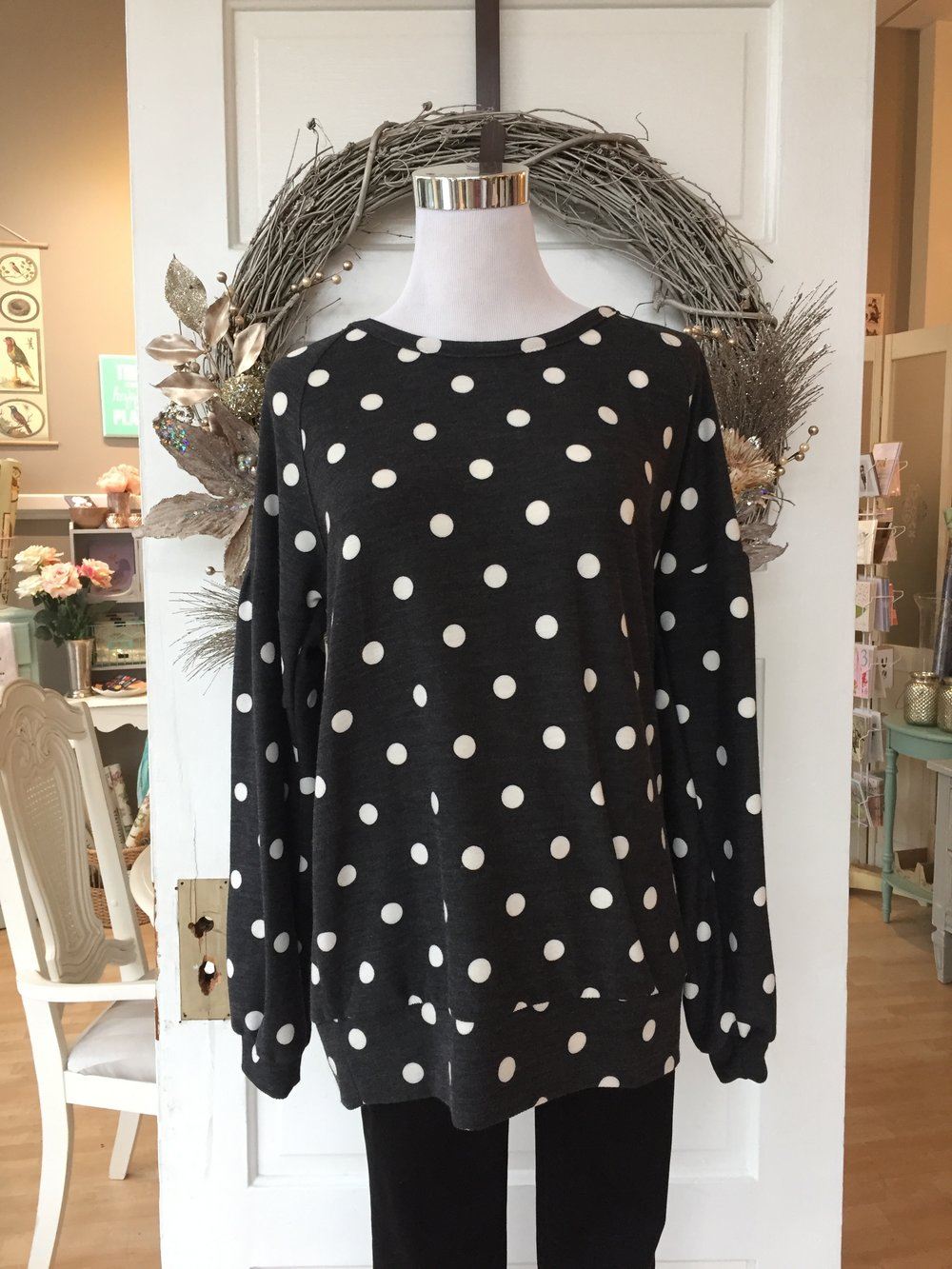 Polka Dot Top $35