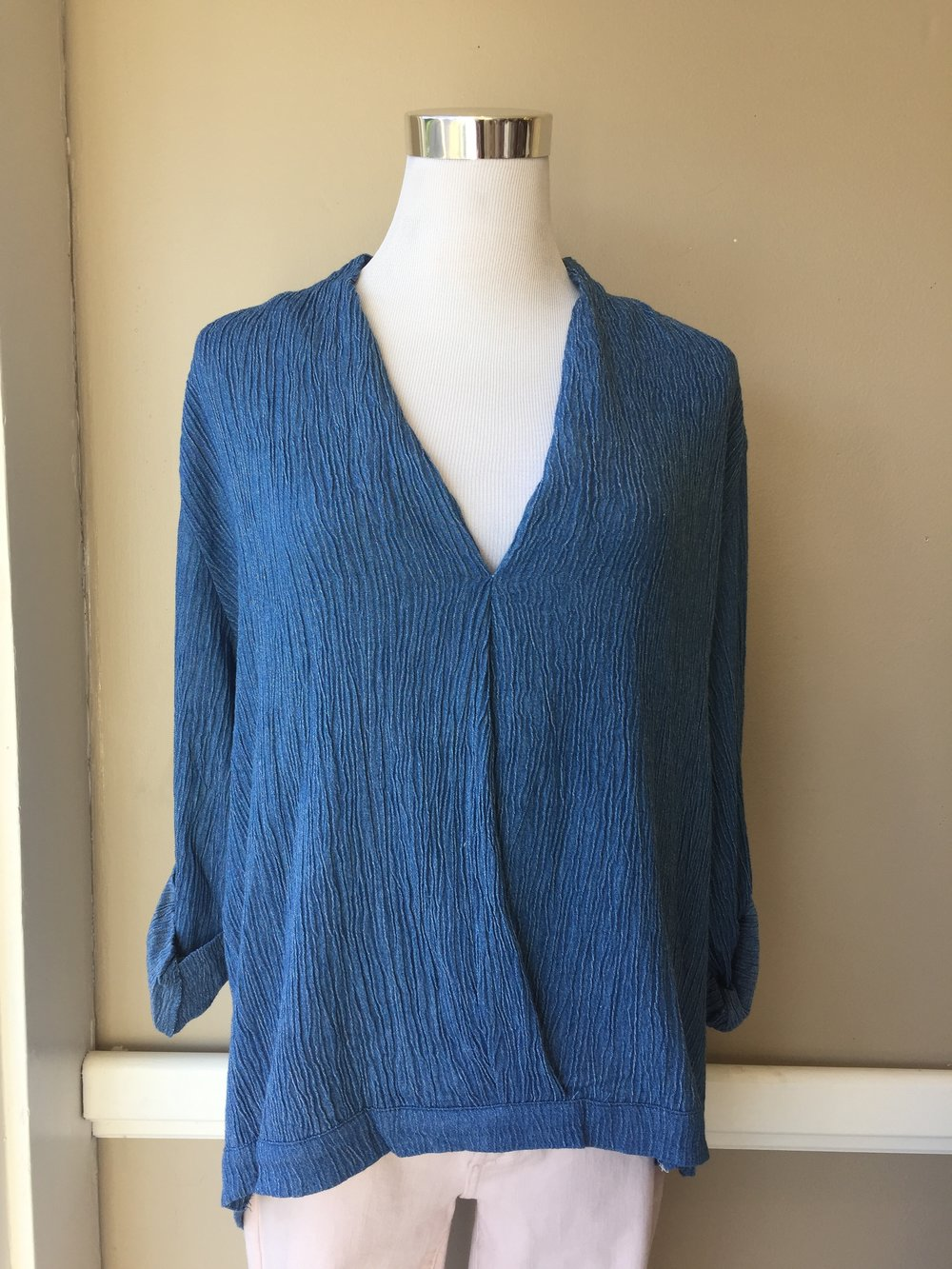Denim Twist Top $42