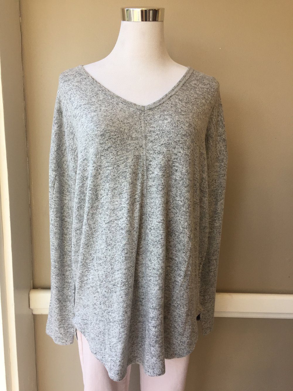 Staccato V Neck (Grey and Charcoal $34)
