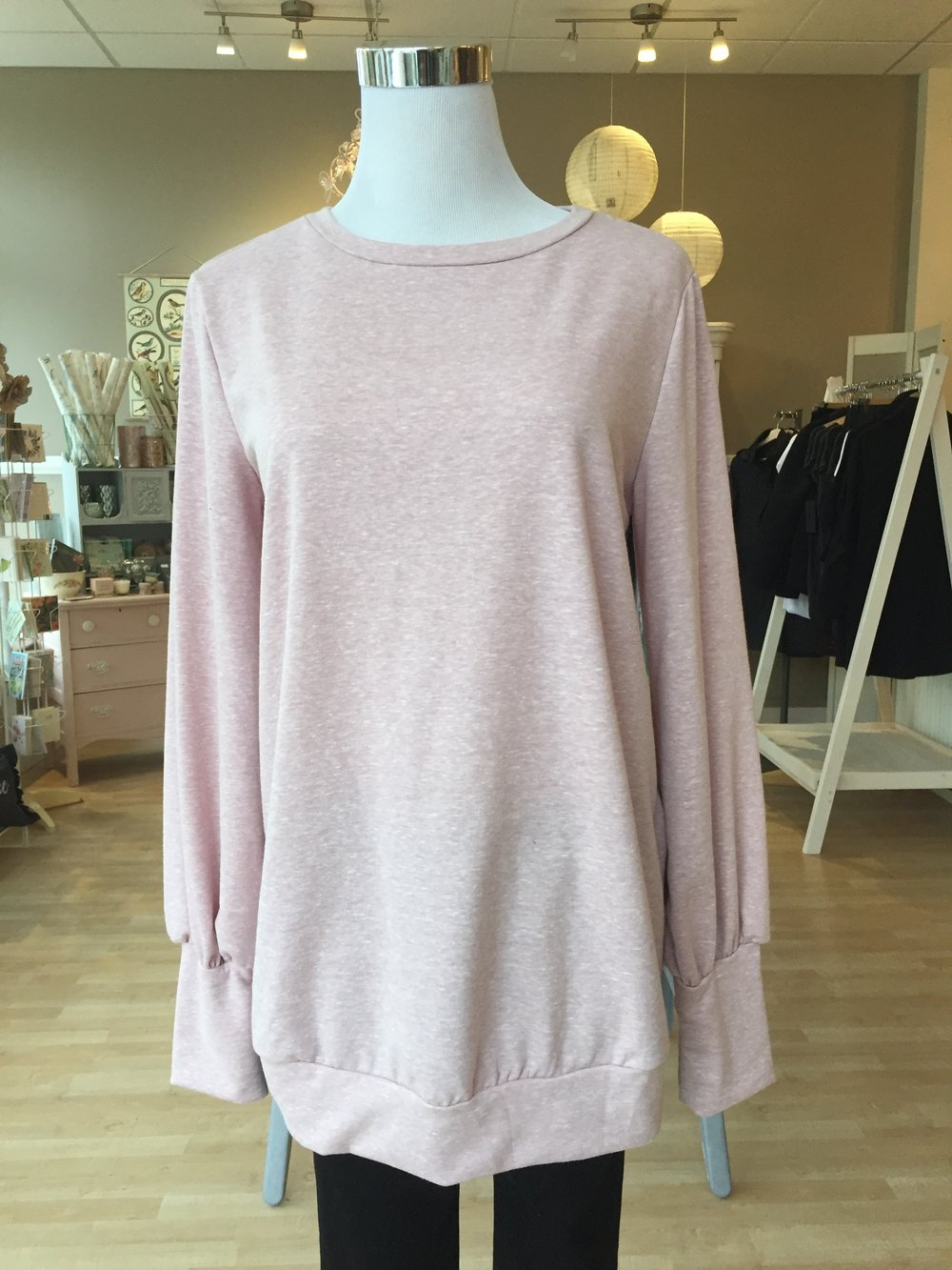 Top w/ Cute Sleeves $38 (pink, charcoal)