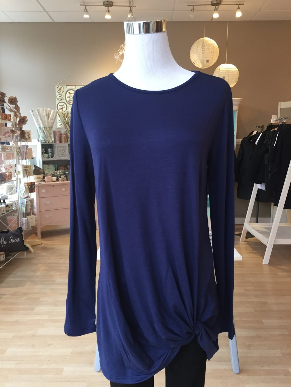 Navy Knot Top $32