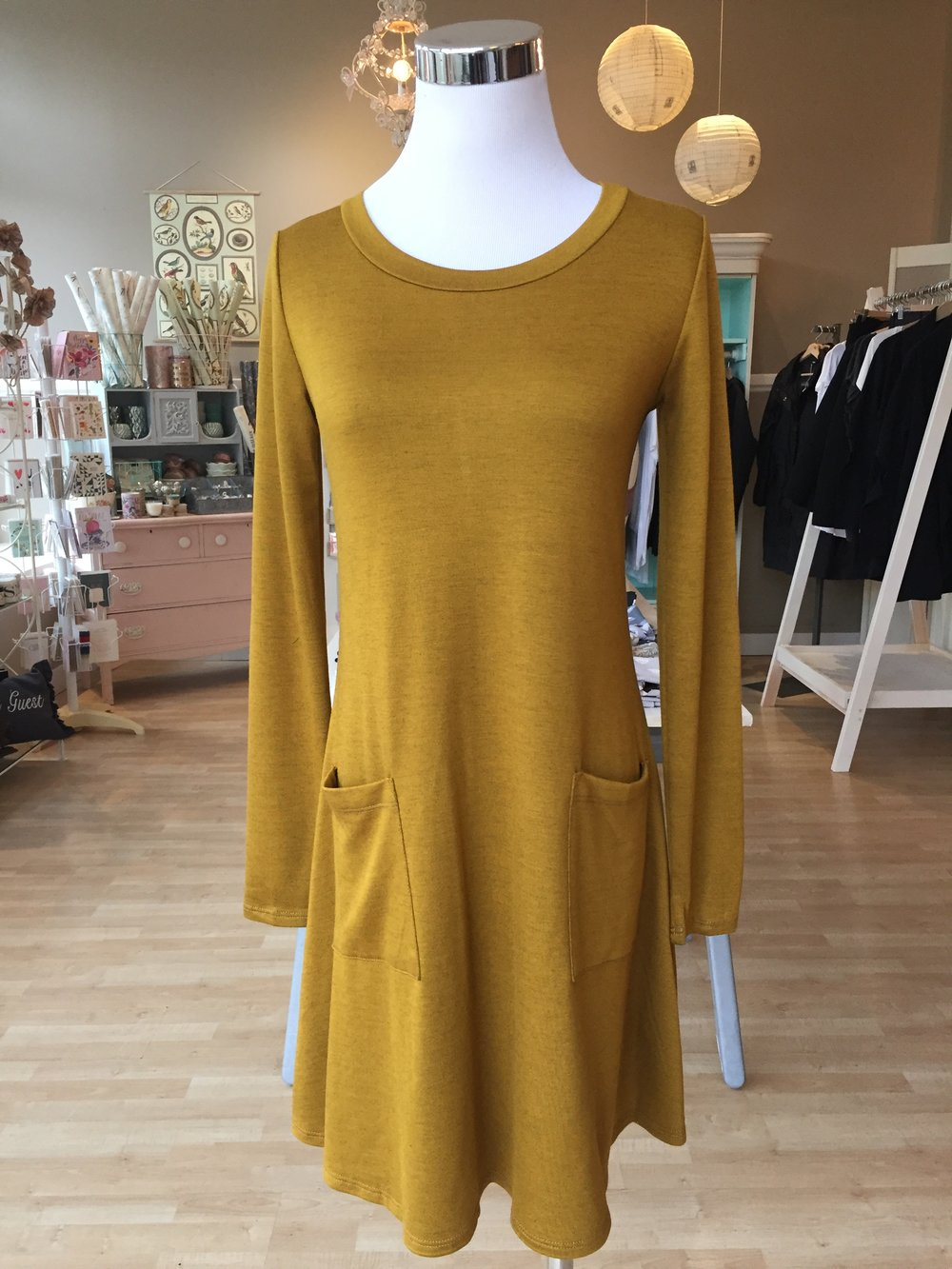 Gilli Mustard Dress $38