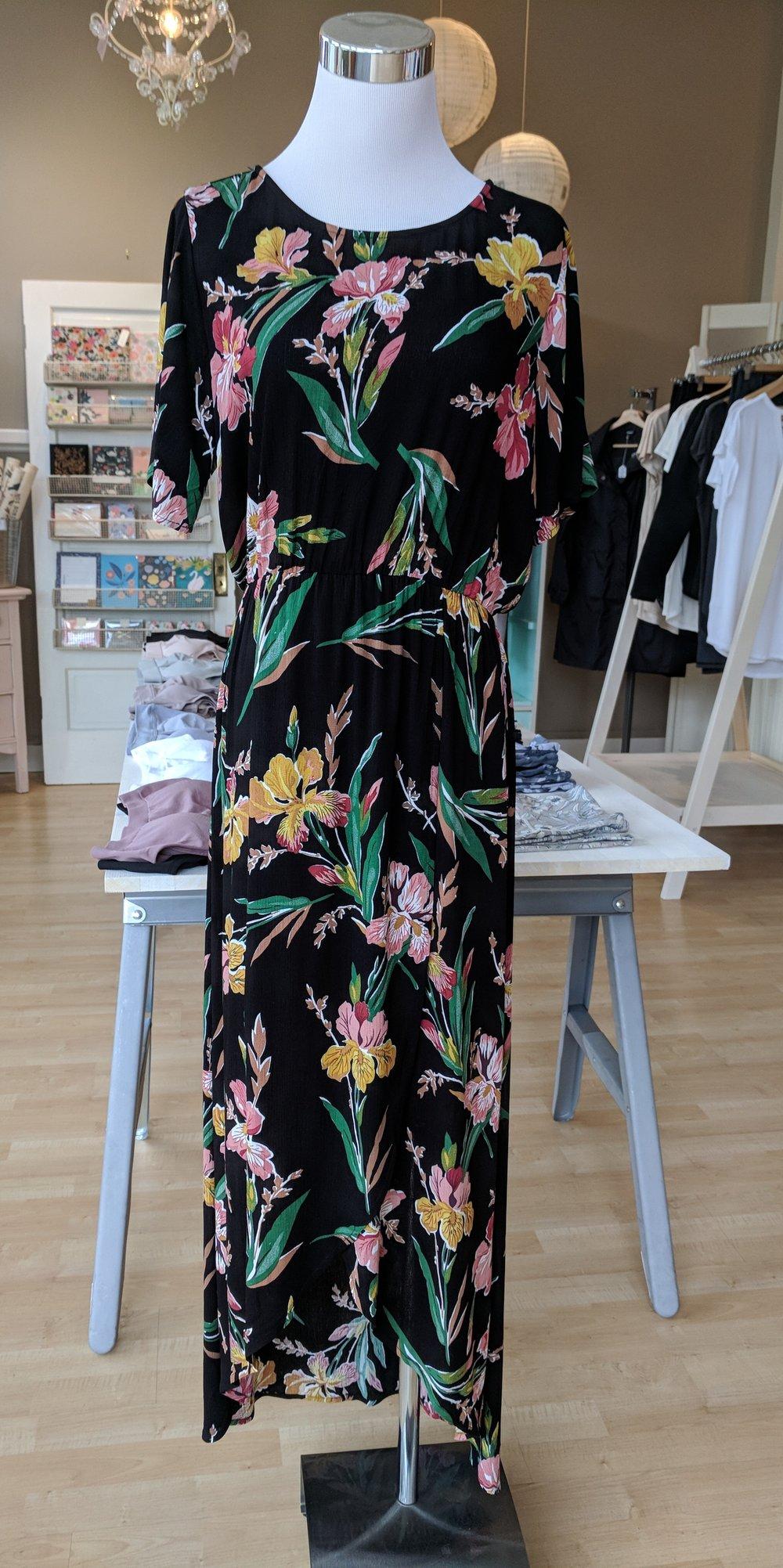 Black Floral Maxi Dress $52