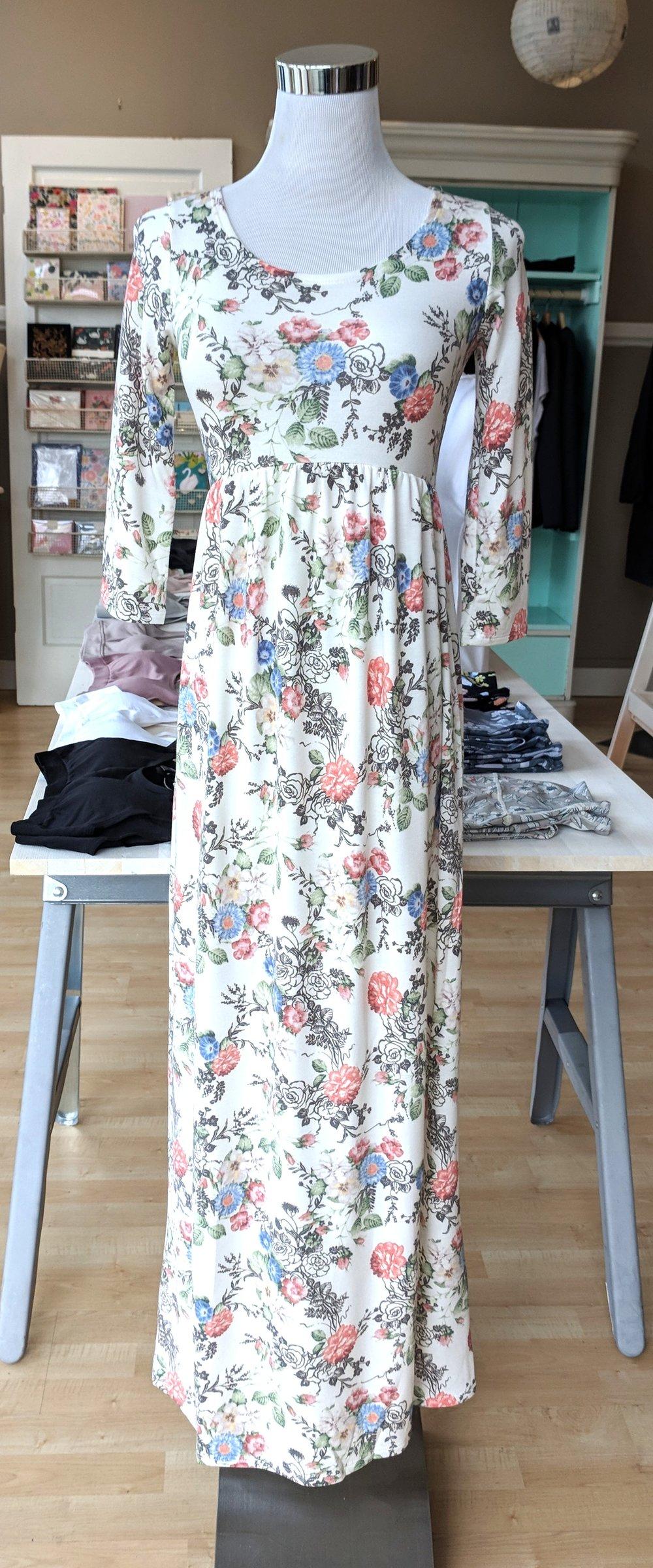 Floral long Maxi dress $38