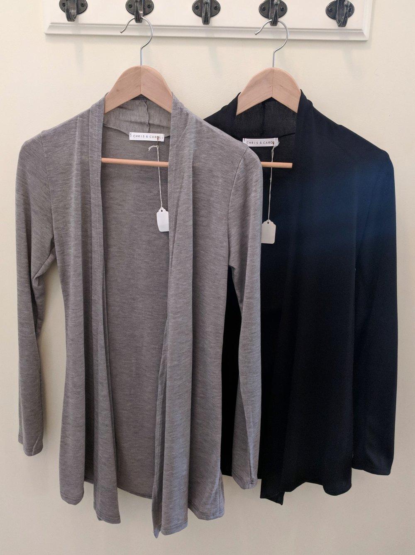 Grey and Black Cardigan $28