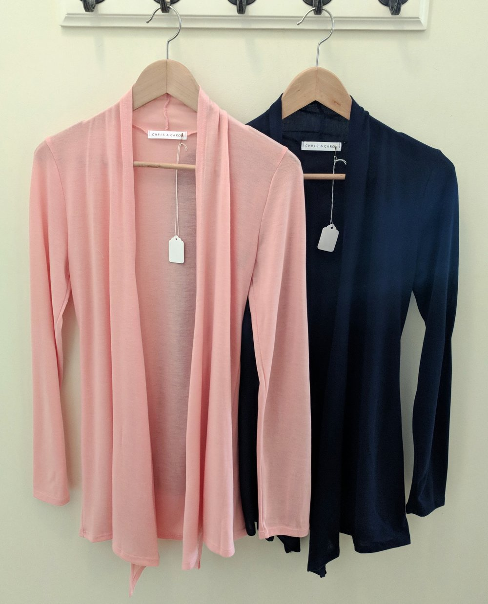 Pink and Navy Cardigan $28