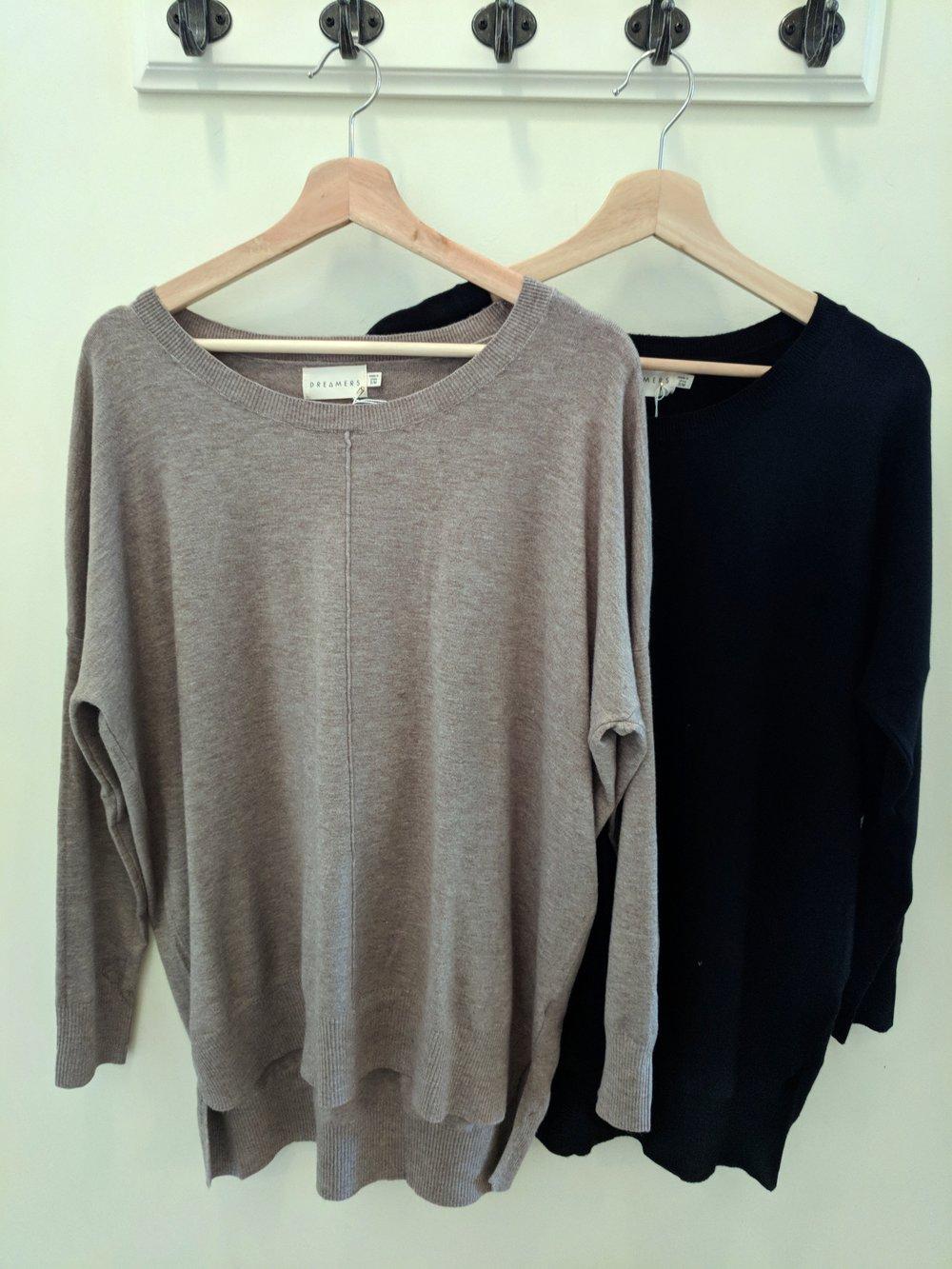 Black and Mocha Dreamer Sweater $42
