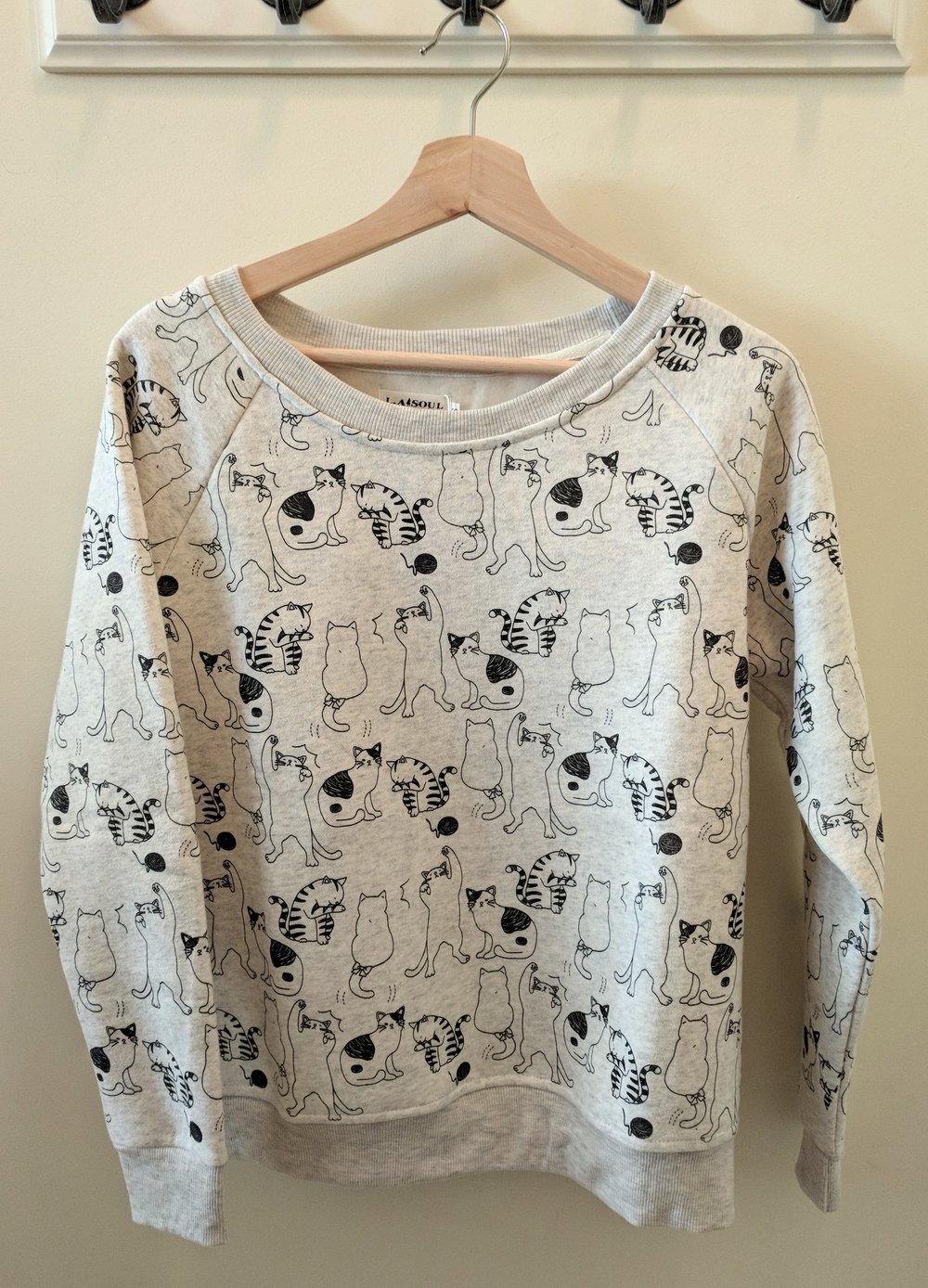 All over cat sweater $38