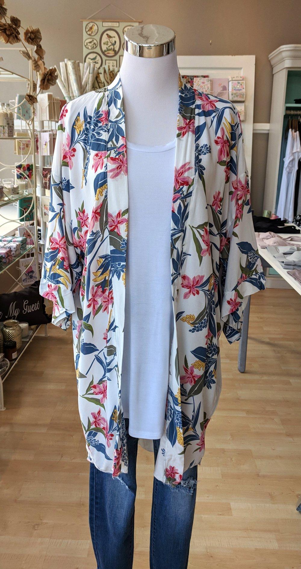 Summer floral Kimono $34