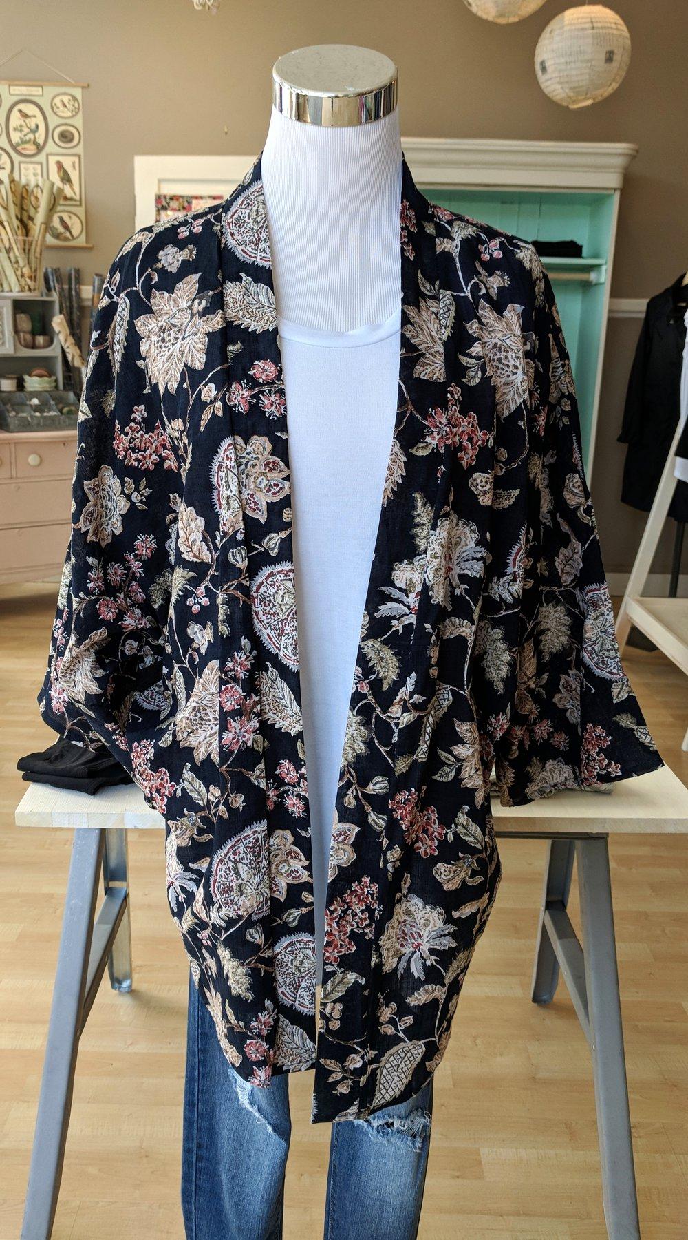 Navy Kimono $34