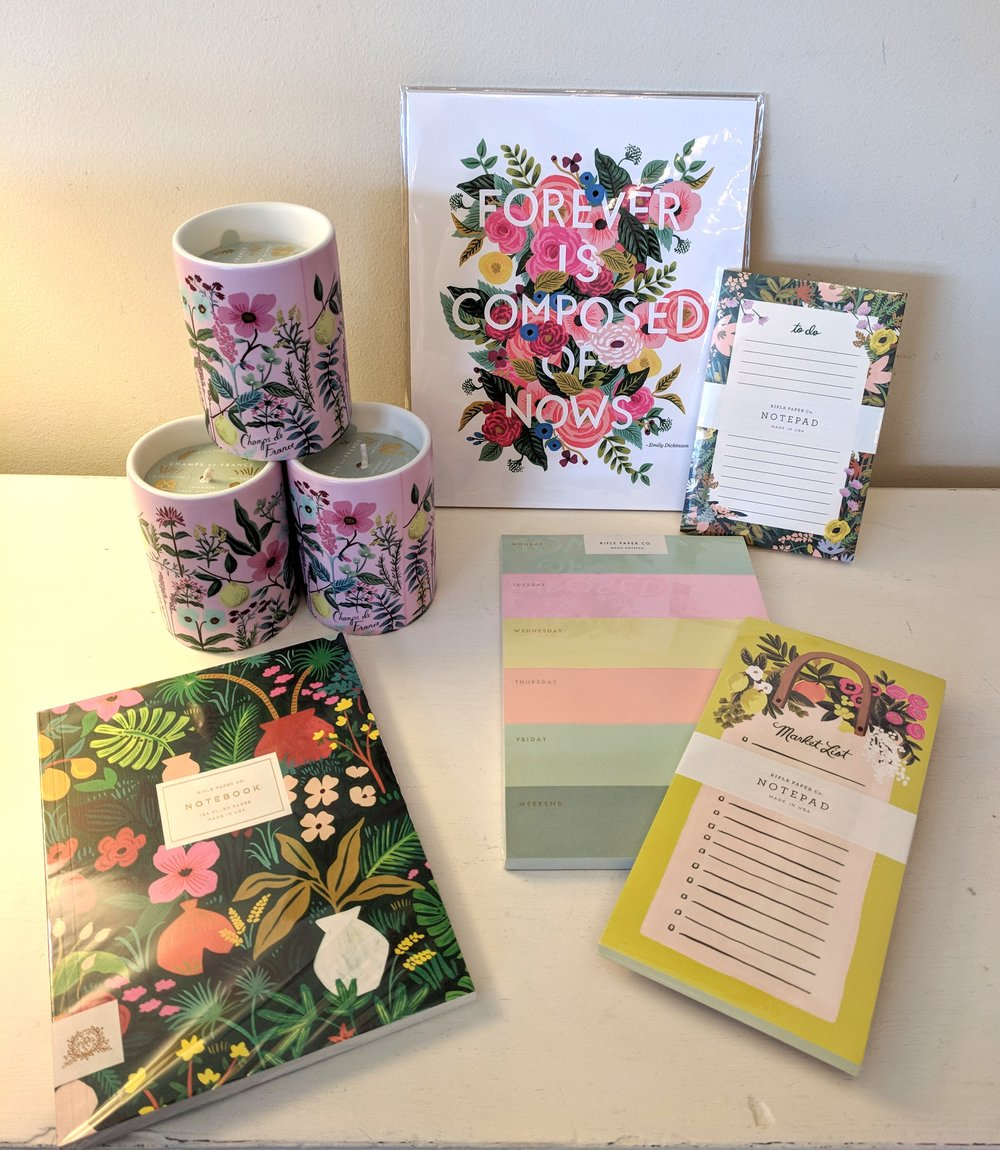 Notebooks, Notepads, Candles and Prints