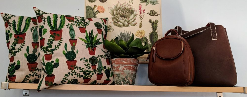 Desert Cactus Cluster Print Pillow $26