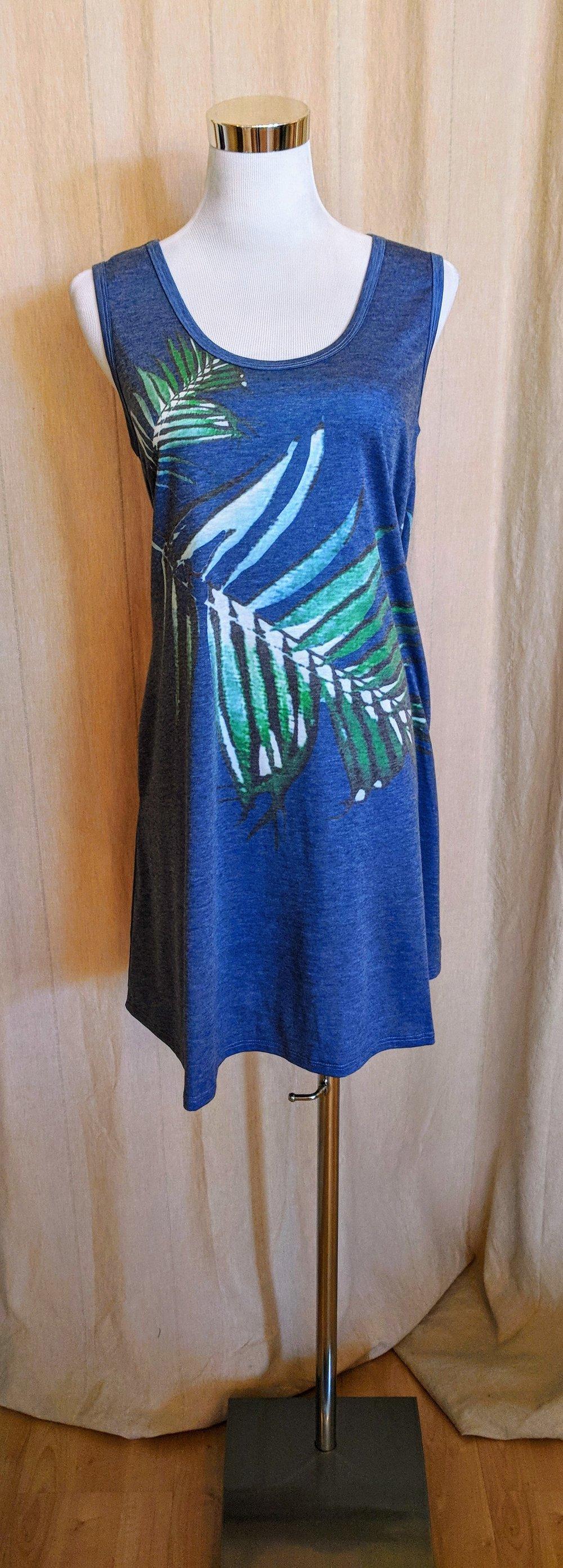 Tropical Print tank dress $32