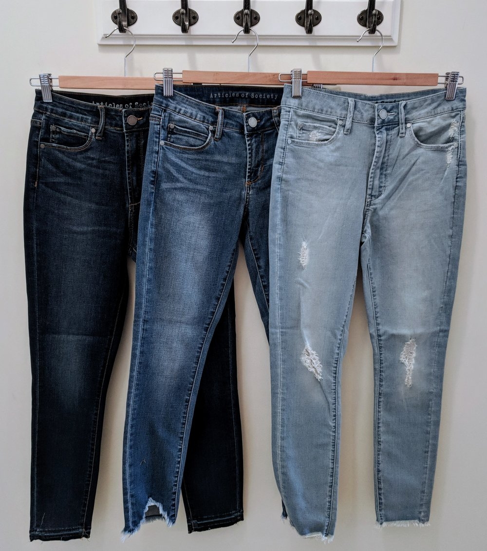 Articles of Society High rise crop jeans $64