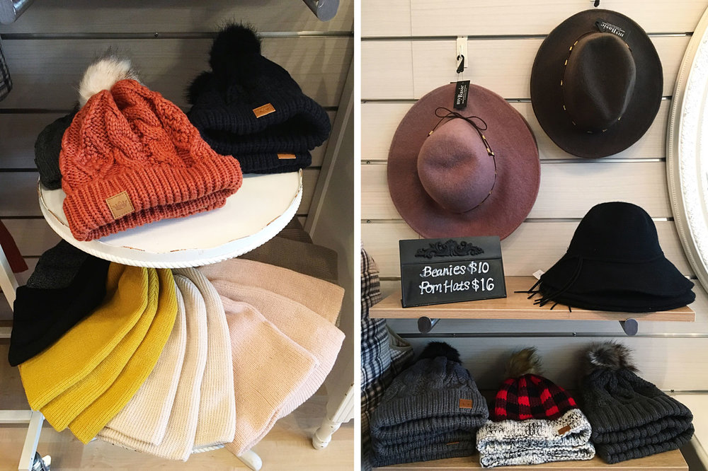 So many hats and beanies to choose from!