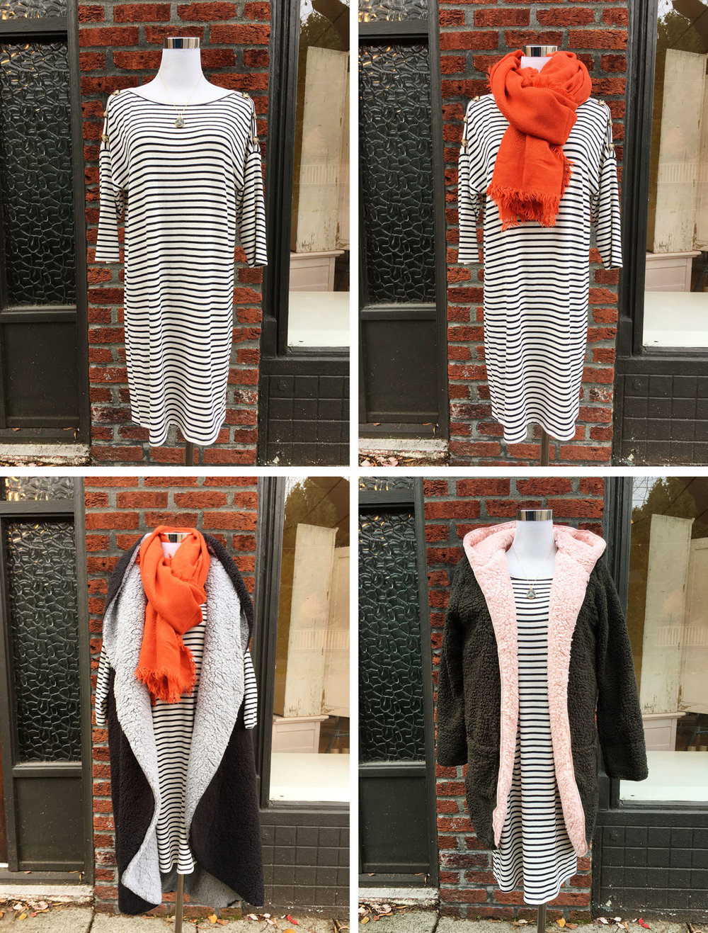 Four different ways to wear the same dress - check out all the fun items you can pair it with!