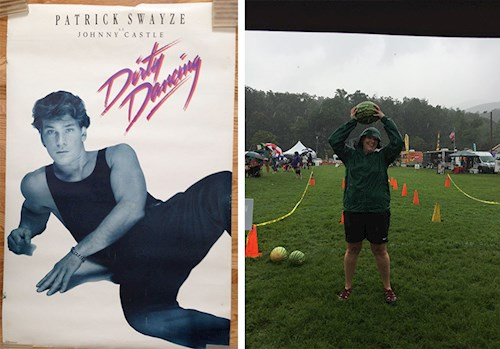 """""""I carried a watermelon"""" at the Dirty Dancing festival in honor of my childhood crush, Patrick Swayze."""