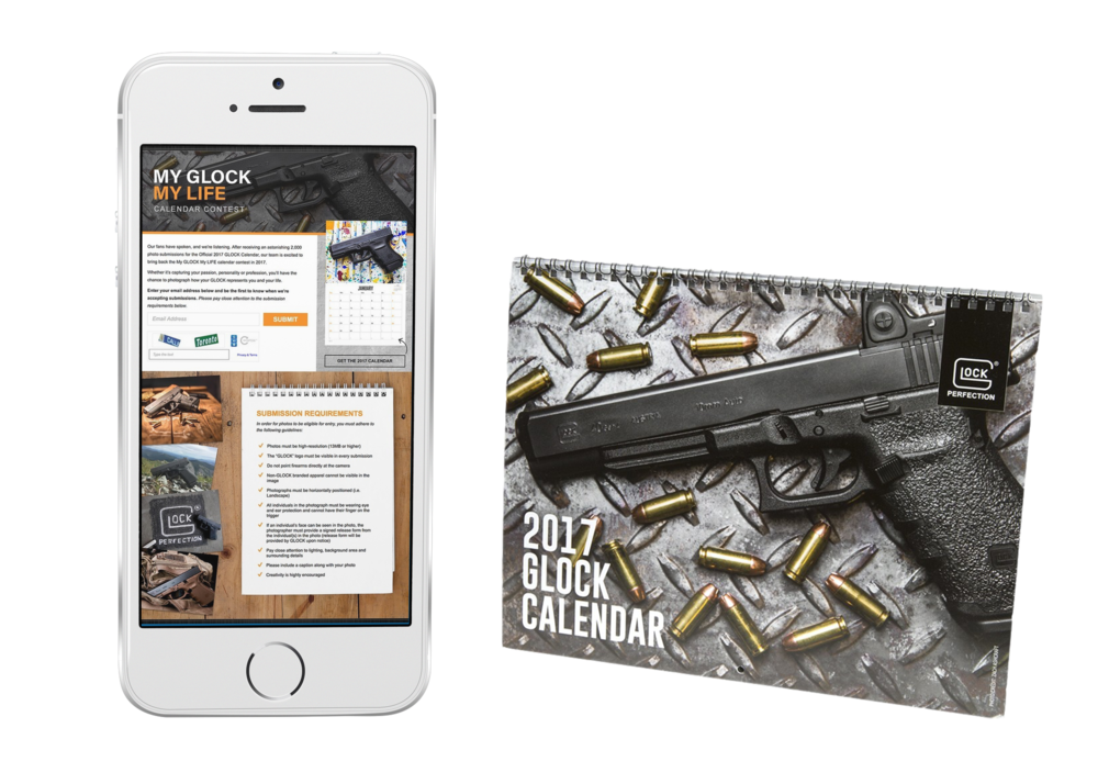 "CREATED FIRST EVER ""MY GLOCK. MY LIFE"" CAMPAIGN WHICH INTEGRATED SOCIAL MEDIA AND USER GENERATED PHOTOS TO CREATE AN ANNUAL GLOCK CALENDAR."