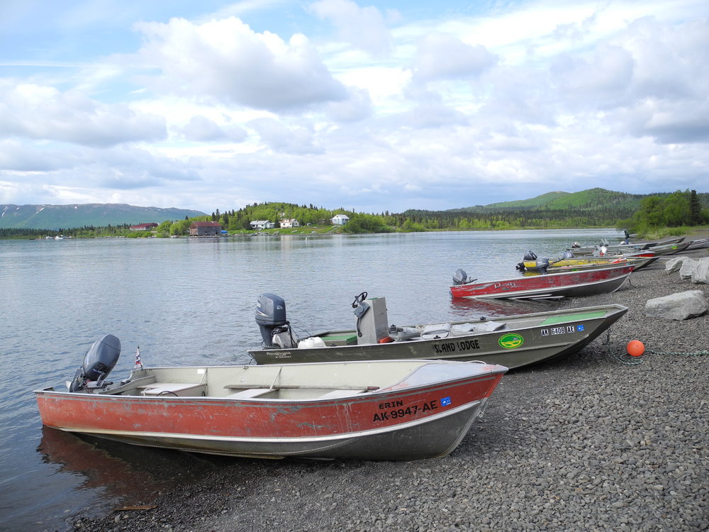 Boats used for subsistence and sport fishing  in Bristol Bay, Alaska.