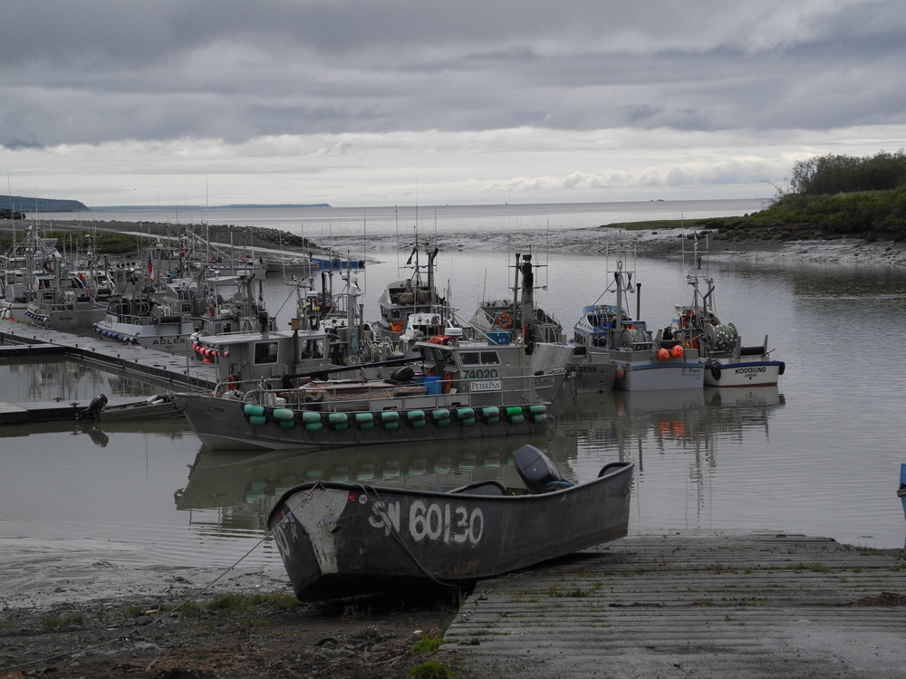 Popular commercial boat launch in Dillingham, Alaska