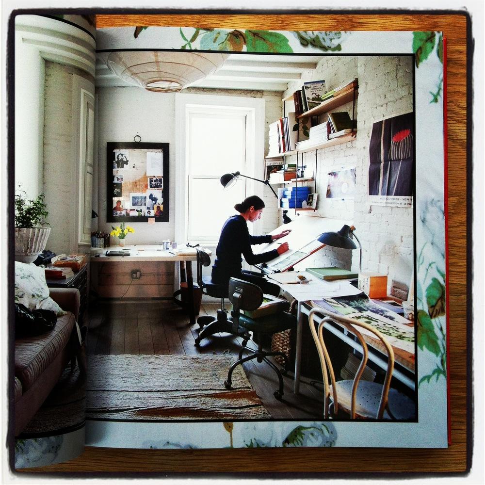 Miranda Brooks, landscape designer, at work