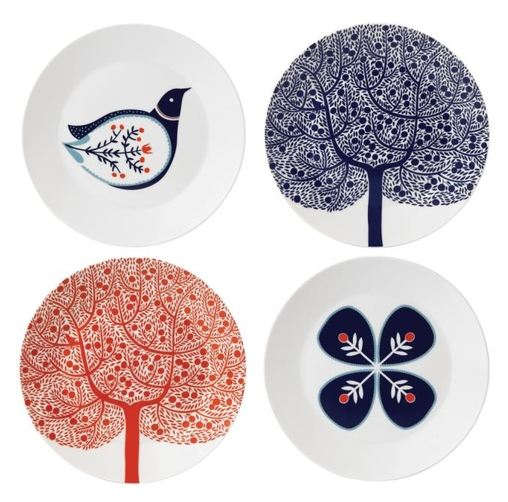 Something very satisfying about these plates - not just the strong red, white and blue colour combo, or the cute, whimsical illustration - but the fact that they're from the original purveyors of twee chinaware:  Royal Doulton . I love it when heritage brands shake off the old and embrace the new, in this case with illustrations by  Karolin Schnoor .   This collection will be debuting at  Home next week, along with lots of other lovely interiorsy things. Happy New Year!