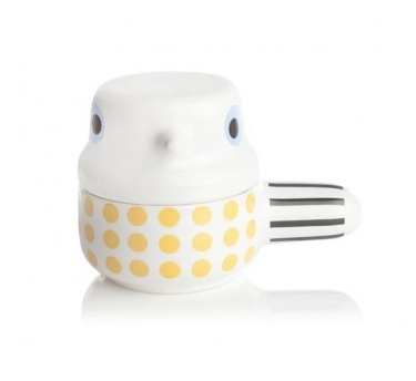 Too cute... Small Yellow Wingtail earthenware pot, by  Camilla Engdahl
