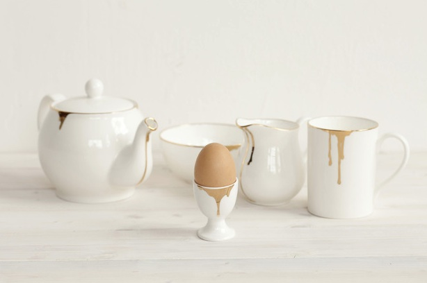 The complete Drip Tease range in fine bone china