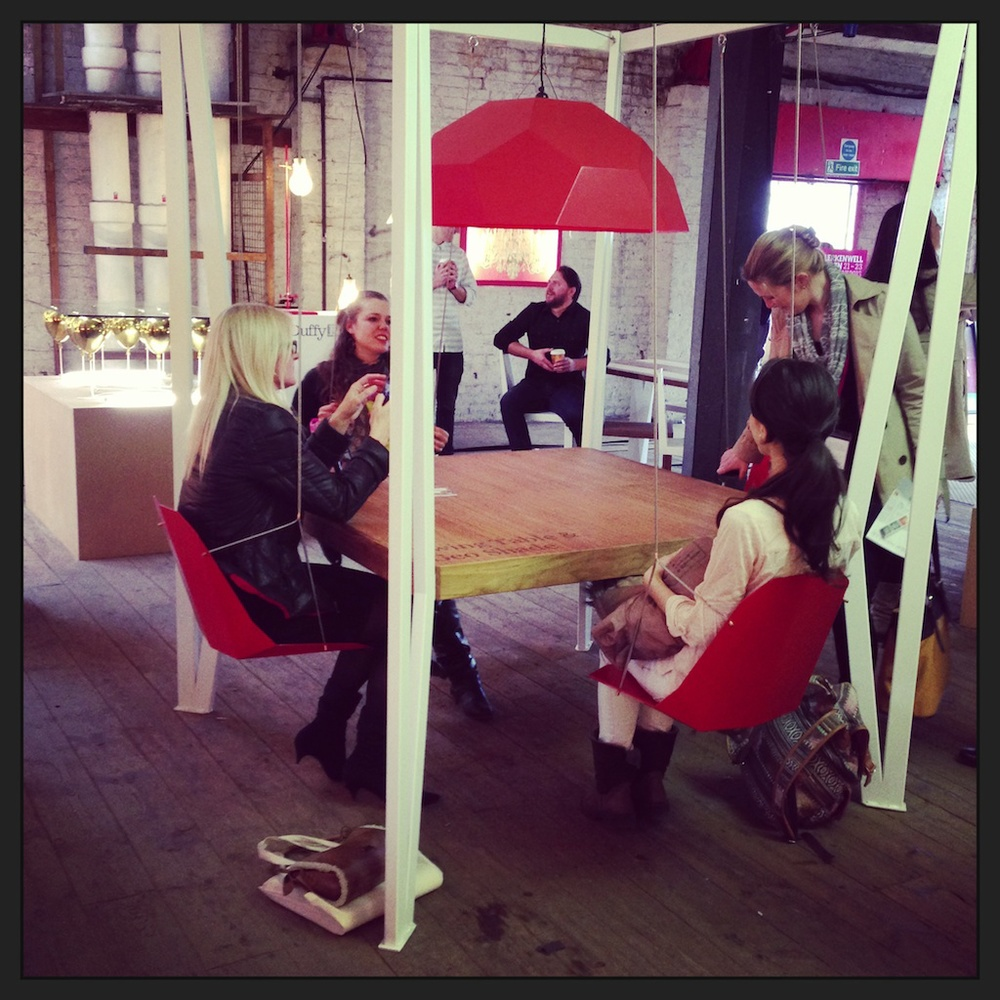 The Swing Bench by  Duffy London  looks like the kind of thing you might find in Google's HQ. And guess what? The designer (in the background, seated, holding a coffee) has already sold one to the Swiss office.