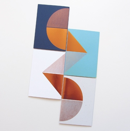 Lovely copper cards by Scottish-based Lovely Pigeon who also make prints and jewellery