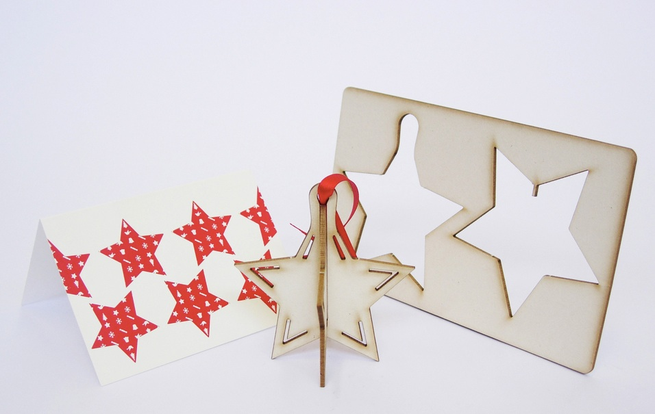 Or send a tree decoration from the  Pop Out Card Company