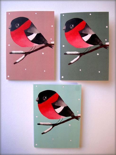 Instead of a Robin why not a Bullfinch by  Matt Sewell