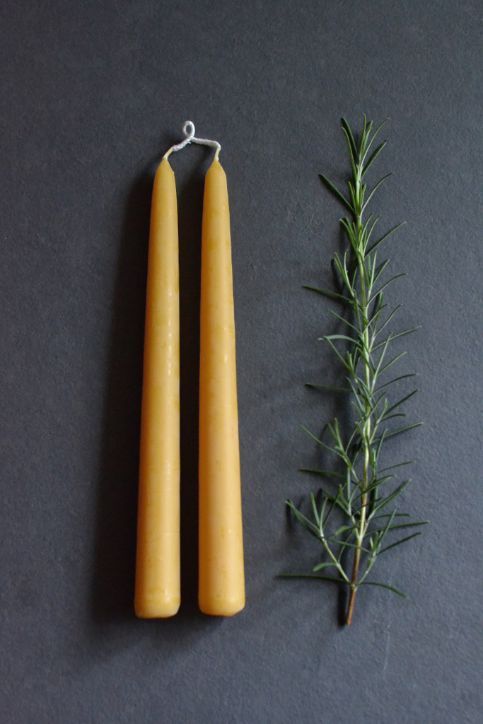 Beeswax candles - pair - Decorator's Notebook.jpg