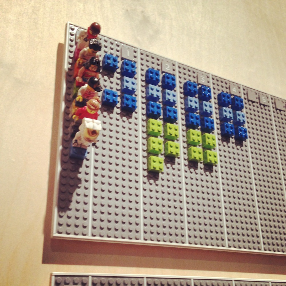 The crowd-pleasing Lego Calendar designed by Vitamins Design, UK