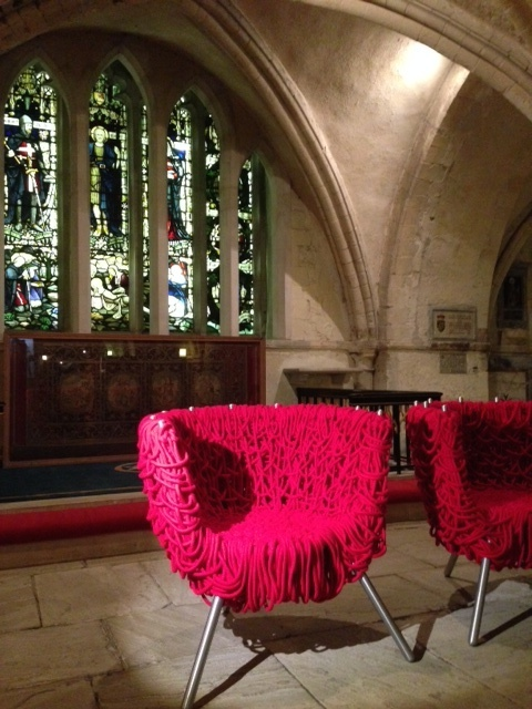 A collaboration between the Campana brothers and Italian furniture brand Edra on display in the crypt at The Order of St John during Clerkenwell Design Week 2014
