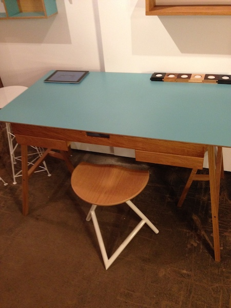 I really liked this desk and stool by James Tattersall.