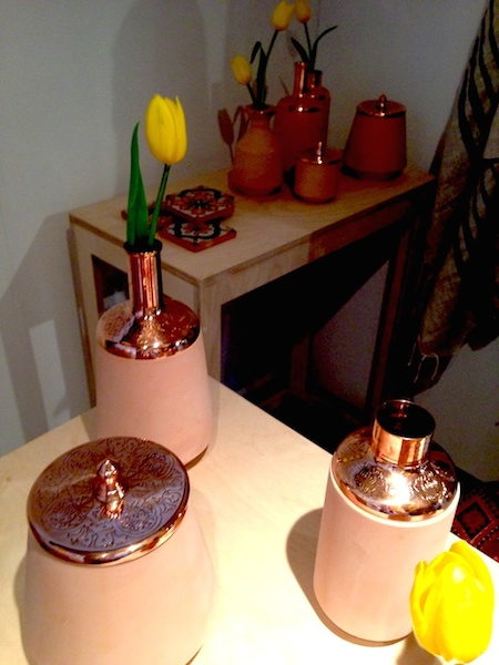 Also these lovely copper and ceramic vessels from Tunisia by Hend Krichen (slightly fuzzy pic above)