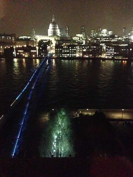 I went to a pretty cool party at the top of Tate Modern, here's a totally unnecessary picture of the view.