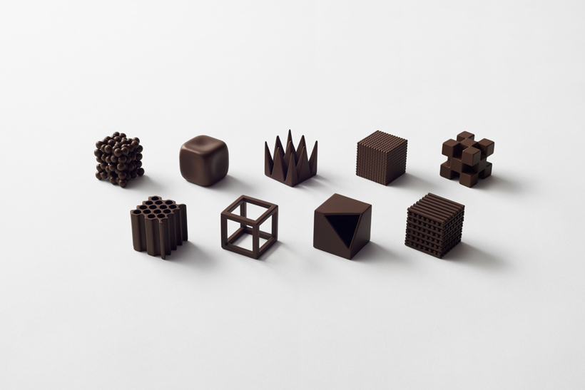 Nendo's 'Chocolate Lounge' at Maison et Objet plays with the idea of taste and texture.