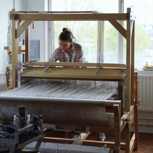 Textile designer/maker Catarina Riccabona works on bespoke projects with The New Craftsmen.