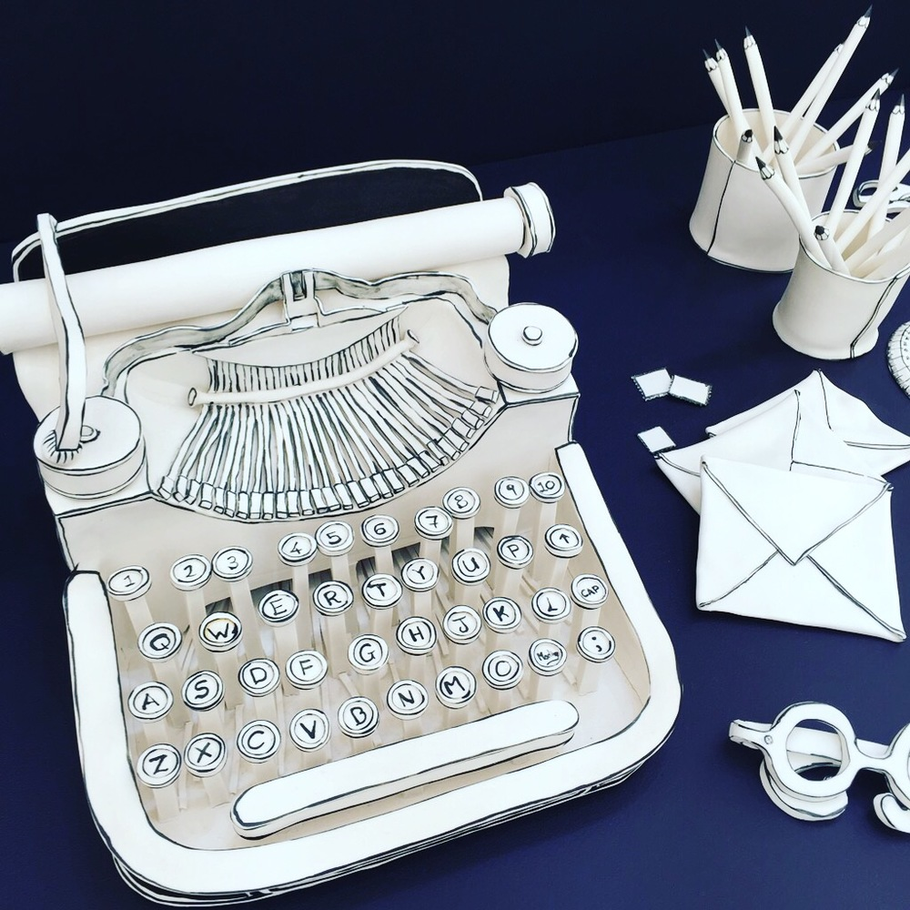 Taking ordinary to extraordinary was this ceramic typewriter, part of Future Heritage at Decorex, made by Katharine Morling. Check out the ceramic pencils in pencil pot too - I'm sure it was much instagrammed, and rightly so.
