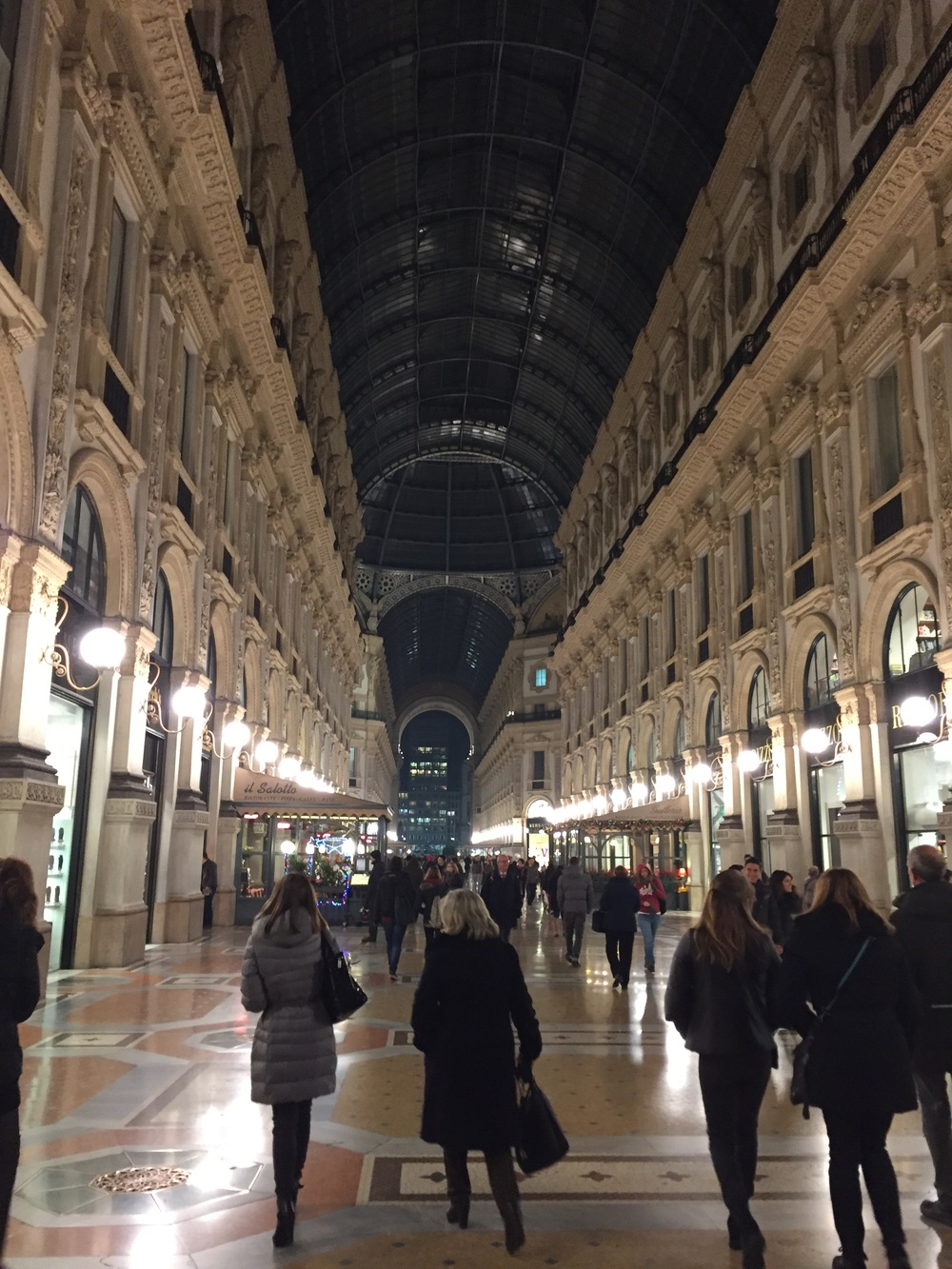 They know how to shop in Milan, the Galleria Vittorio Emanuele II.