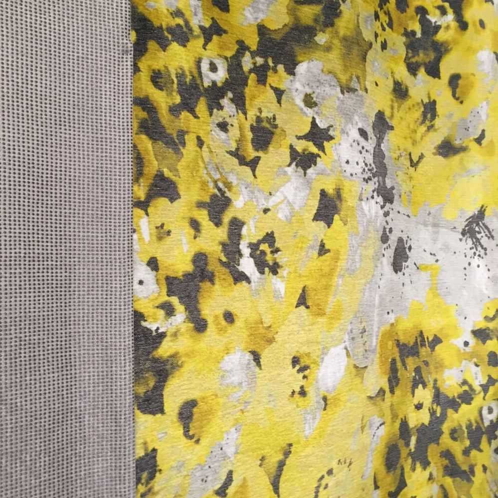 Stunning yellows and greys: bold florals + contemporary colours.