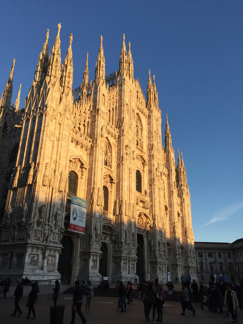 Milan has a magnificent cathedral, the  Duomo