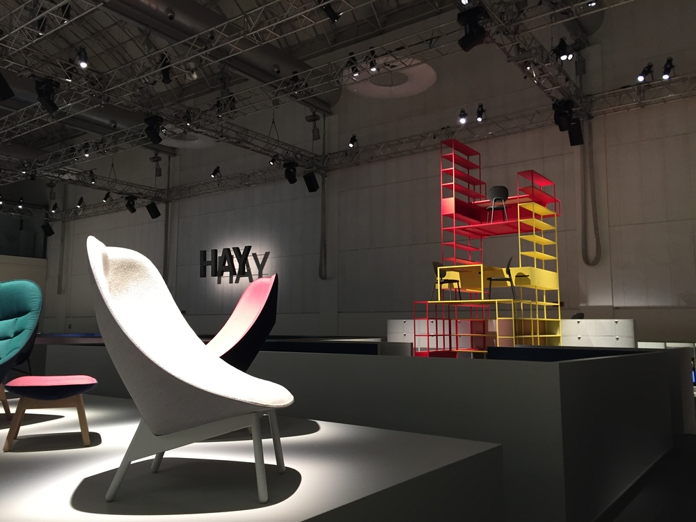 Danish modern furniture brand Hay had an impressive product launch at the vast La Pelota space.
