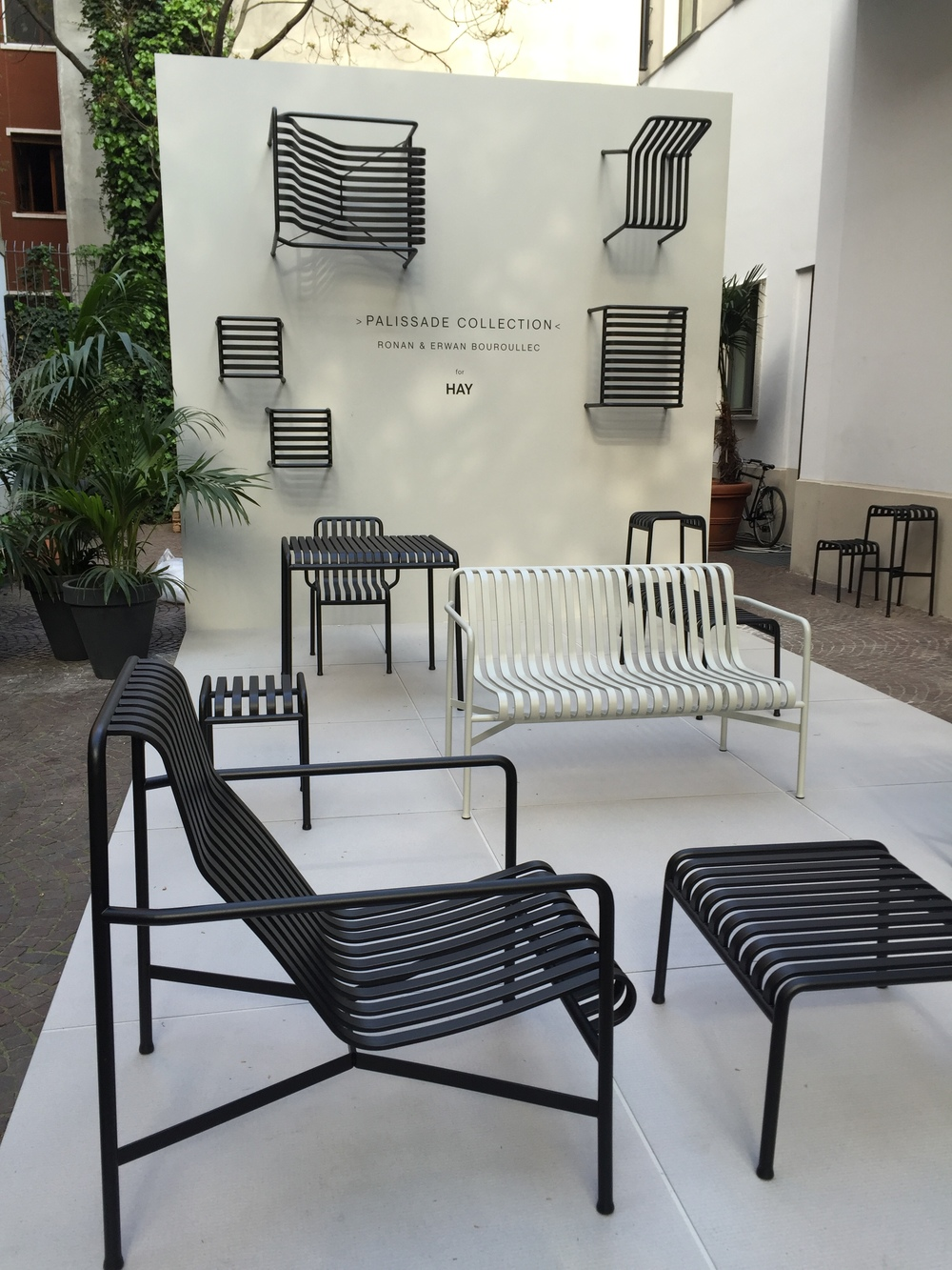 Ronan and Erwan Bouroullec's  Palissade Collection  of outdoor furniture for Hay looked good.