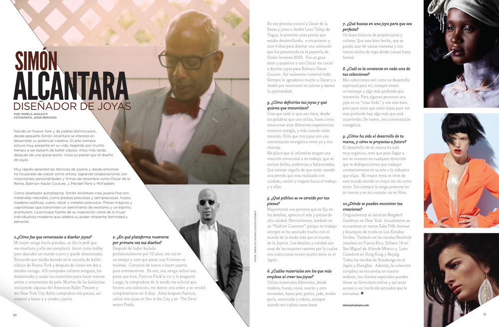 INTERVIEW IN: BLUSH MAGAZINE MARCH  2013 ISSUE DOMINICAN REPUBLIC